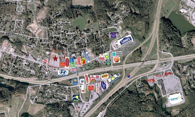 I 77 West Virginia Map.Paramount Development I 77 Outparcels Princeton West Virginia